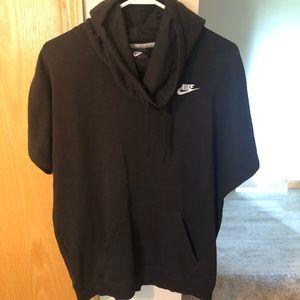 Nike cut off sweatshirt with hood